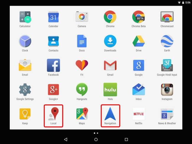 HTC Nexus 9 und Google Maps