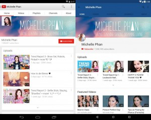 YouTube Material Design Update