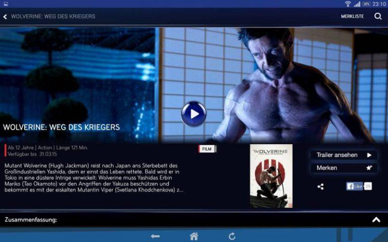Sky Go Android auf Sony Xperia Z2 Tablet