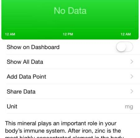 Health in iOS 8.2 Beta 3