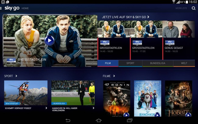 Sky Go Android Installation
