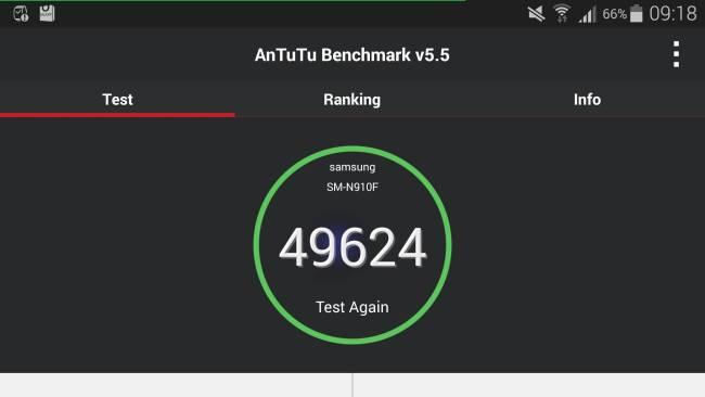 Samsung Galaxy Note 4 Test