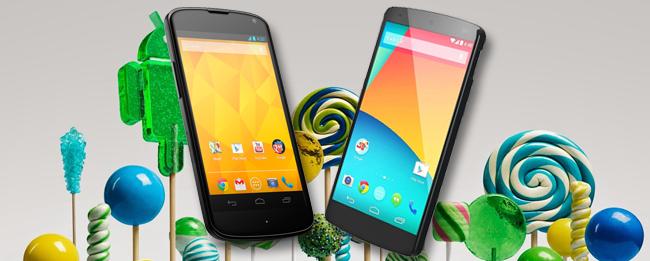 Android 5.0.1 Lollipop für Nexus 4 und Nexus 5