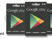20 Prozent Rabatt auf Google Play Store Karten am 9. Dezember