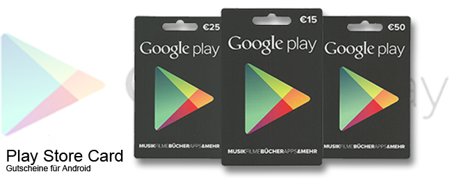 Google Play Store Cards