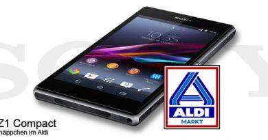 Sony Xperia Z1 Compact im Aldi