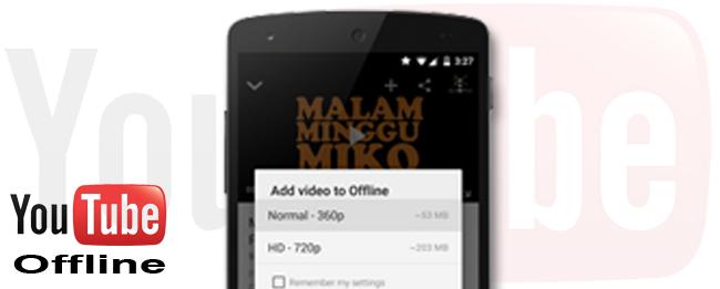 YouTube Offline-Funktion