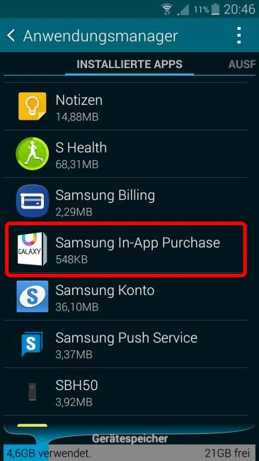 Samsung In-App Purchase