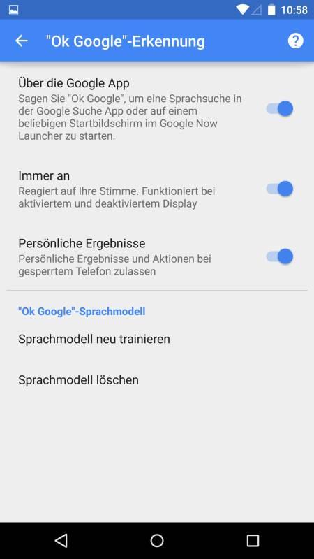 Nexus 6 und Google Now