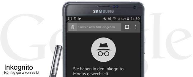 Inkognito-Modus im Chrome Brwoser