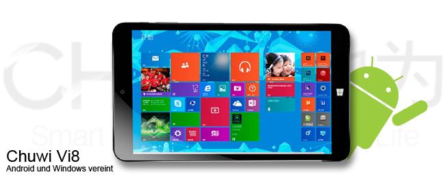 chuwi vi8 handliches dualboot tablet mit windows und android. Black Bedroom Furniture Sets. Home Design Ideas