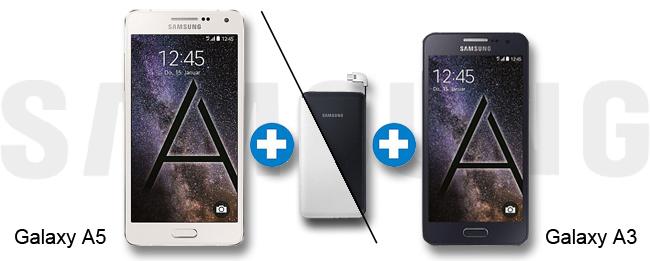Samsung Galaxy A3 und Samsung Galaxy A5 mit gratis Akkupack