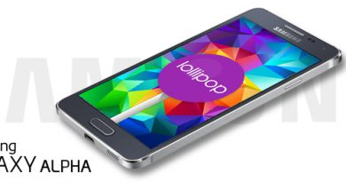 Samsung Galaxy Alpha mit Android 5.0 Lollipop