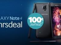 Samsung Neujahrsdeal: Galaxy Note 4 kaufen mit 100 Euro Cashback