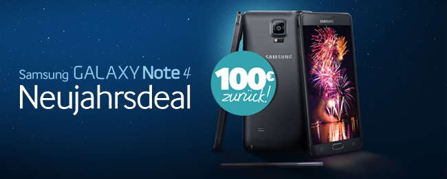 Samsung Neujahrsdeal mit Samsung Galaxy Note 4