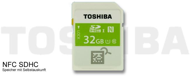 Toshiba SDHC mit NFC