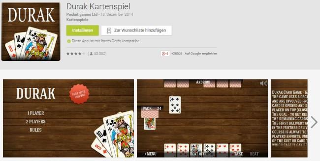 Adware-verseuchte Durak-App
