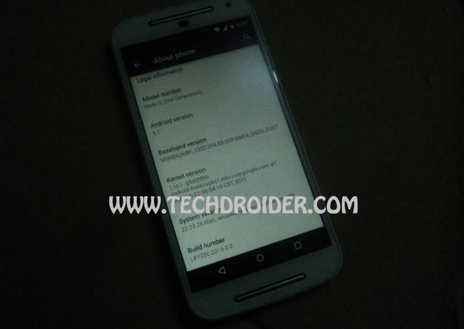 Motorola Moto G (2nd Gen.) mit Android 5.1 Lollipop