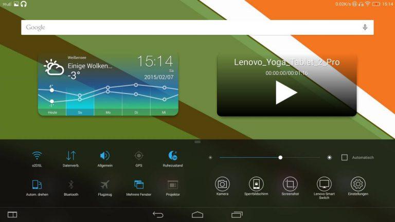 Lenovo Yoga Tablet 2 Pro Test