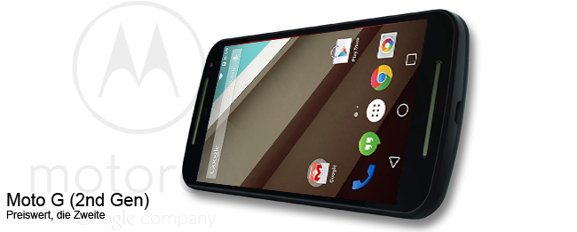 Motorola Moto G (2nd Gen.) mit Android 5 Lollipop