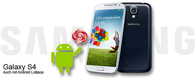 Samsung Galaxy S4 mit Android 5.0 Lollipop Update