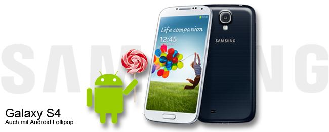 Samsung Galaxy S4 mit Android 5.0 Lollipop Update