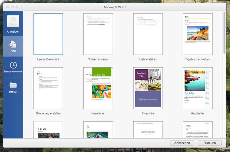 Microsoft Word for Mac 2016