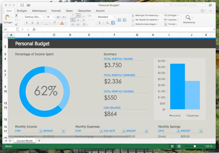 Microsoft Excel for Mac 2016