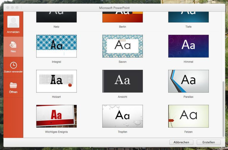 Microsoft Powerpoint for Mac 2016