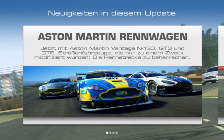 Real Racing 3 Update Aston Martin Vantage