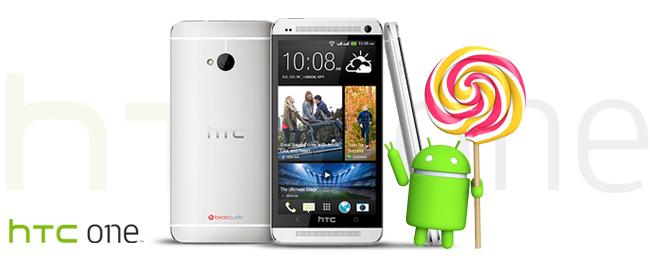 HTC One M7 mit Android 5.0 Lollipop