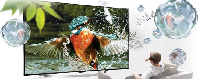 LG OLED Panel mit Magnet-Halterung