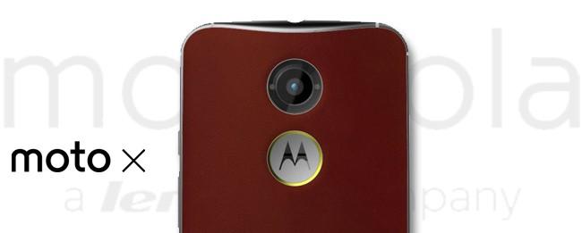 Motorola Moto X (2nd Gen.) mit rotem Horween-Leder