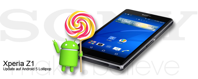 Sony Xperia Z1 Lollipop Update