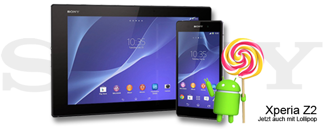 Sony Xperia Z2 Tablet Lollipop-Update