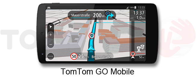 tomtom go mobile f r android vorgestellt. Black Bedroom Furniture Sets. Home Design Ideas