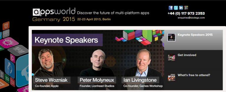 Steve Wozniak auf der Apps World 2015