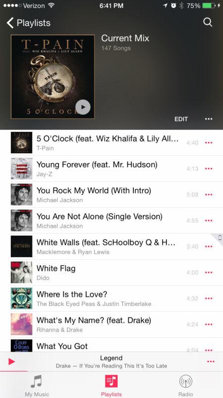 iOS 8.4 Musik-App