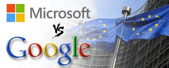 Microsoft gegen Google in der EU