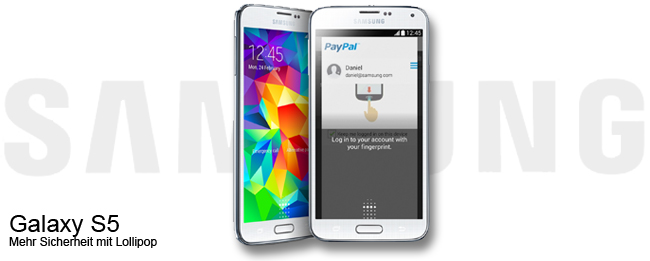 Samsung Galaxy S5 Fingerabdruck-Sensor