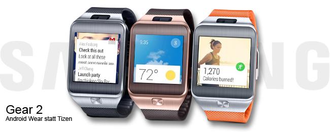 Samsung Gear 2 mit Android Wear