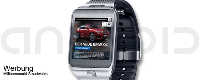 Werbung auf der Smartwatch
