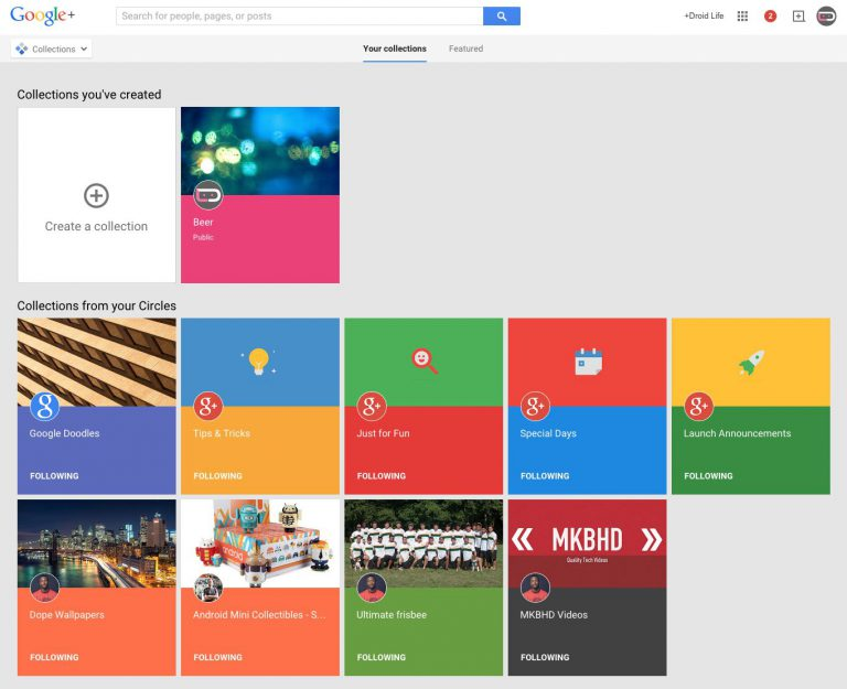 Google Sammlungen