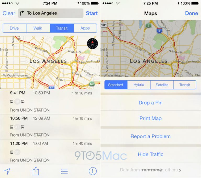 Mockup zu Apple Maps Transit