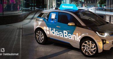 Fahrende Bank als BMW i3
