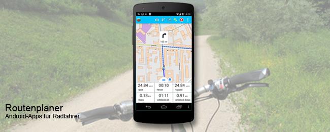 Fahrradroute planen auf dem Android Smartphone