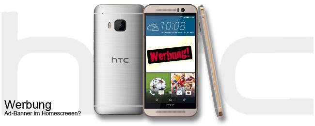 HTC Home mit Werbe-Banner