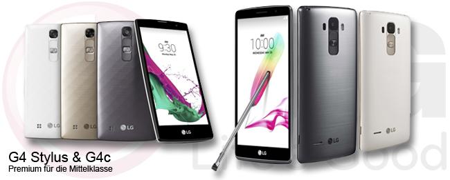 LG G4 Stylus und LG G4c