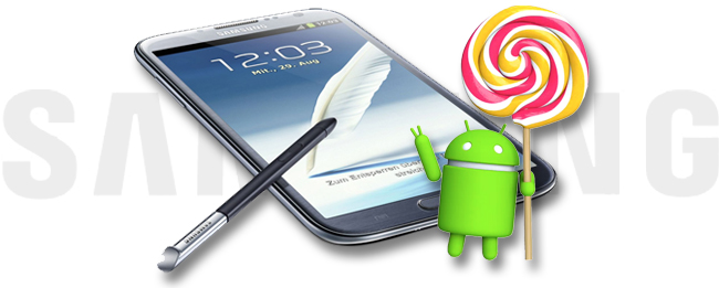 Samsung Galaxy Note 2 und Android 5.0 Lollipop