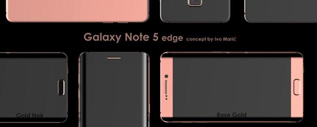 Samsung Galaxy Note 5 edge Konzeptentwurf